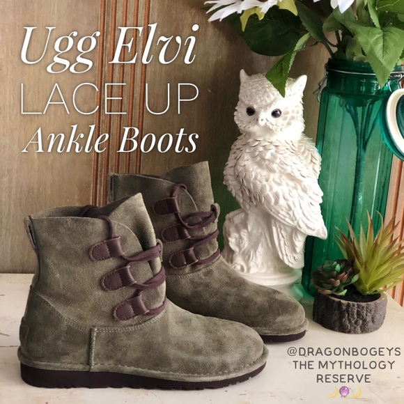 1ff87123707 Ugg Elvi Lace Up Boots NWT